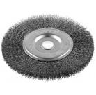 """Щетка ЗУБР """"ЭКСПЕРТ"""" дисковая для точильно-шлифовального станка, витая стальная проволока 0.3 мм, 15"""