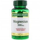 Магний Nature's Bounty, 500 мг, 100 таблеток, высокой эффективности