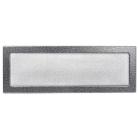Решетка вентиляционная серебристо-черная, графитовая Dospel 17х49