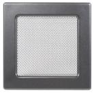 Решетка вентиляционная серебристо-черная, графитовая Dospel 17х17