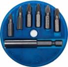 """Набор STAYER Биты """"MASTER"""" с магнитным адаптером в круглом мини-боксе, PZ1 (2шт), PZ2 (3шт), PZ3 (1ш"""