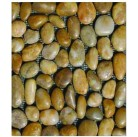 Галька желтая полированная (крупная фракция 40-60мм) 20 кг - HNY-02