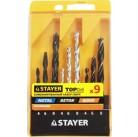 "Набор STAYER ""STANDARD"": Сверла комбинированные, дерево (4-6-8мм), металл (4-6-8мм), бетон (4-6-8мм)"
