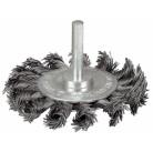 """Щетка ЗУБР """"ЭКСПЕРТ"""" дисковая для дрели, плетеные пучки стальной закаленной проволоки 0,5мм, 75мм"""