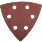"""Треугольник шлифовальный ЗУБР """"МАСТЕР"""" универсальный на велкро основе, 6 отверстий, Р60, 93х93х93мм,"""