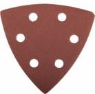 """Треугольник шлифовальный ЗУБР """"МАСТЕР"""" универсальный на велкро основе, 6 отверстий, Р320, 93х93х93мм"""