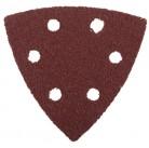 """Треугольник шлифовальный ЗУБР """"МАСТЕР"""" универсальный на велкро основе, 6 отверстий, Р80, 93х93х93мм,"""