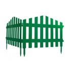 "Забор декоративный ""Барокко"", 28 х 300 см, зеленый  65030"