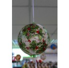 Игрушка новогодняя декорированная пенопластовый шар d 15 см