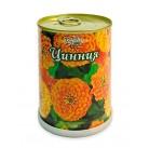 Цинния цветок в банке BONTILAND (метал. банка, универсальный грунт, семена, высота-9,8см, диаметр-7,8см)