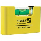 Уровень для электрика Stabila Pocket Basic on card with belt clip