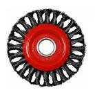 Щетка дисковая плетеная, WKW-M  - 115 х 22,2 мм