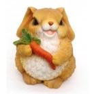 Садовая фигурка Заяц с морковкой BJ070319(6)  GS