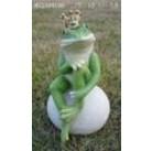 Садовая фигурка Лягушка - принцесса на камне MG2394200(Р2 С2)