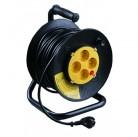 Удлинитель СВЕТОЗАР электрический с заземлением на катушке, евро, 4 гнезда, 30м