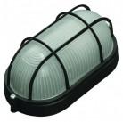 Светильник уличный СВЕТОЗАР влагозащищенный с решеткой, овал, цвет черный, 60Вт