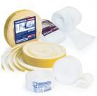 Уплотнители для окон Р-профиль (резиновый) на клейкой основе белый 100м 2607