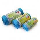 Пакет мусорный ПНД 50см х 60см в рулоне 30л синий с длинными ручками Masterbag/50штх20упак 3802