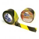 Лента для ограждений 50мм х 200м черно-желтая неклейкая  MИЛЕН 2606