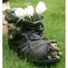 Горшок Зайцы на черном ботинке HA9006-2S  GS
