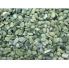 Галька нефритовая NS009 (зеленая), 3-5 см,  1 кг.