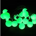 Гирлянда светодиодная для улицы LED-Ball, 5 м, 50 лампочек, зеленая