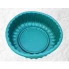Ваза-клумба круглая зеленая 93*93*30 см (210 л)