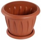 """Горшок для растений """"Фелиция"""" терракотовый1,8 л. Д180 с поддонником С103Т"""