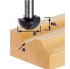 Фреза для выбор. желобка HW с хв. 8 мм HW S8 R4