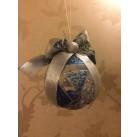 """Игрушка новогодняя декорированная пластиковый """"шар"""" d15см"""