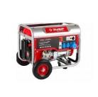 Генератор ЗУБР бензиновый, 4-х тактный, ручной пуск, колеса + рукоятка, 6200/5700Вт, 220/12В