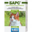 Барс капли на холку для кошек (3амп. )