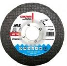 Диск отрезной по металлу Crown CTCDP0059 d180x2x22.2mm