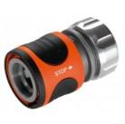 """Коннектор с автостопом Premium 19 мм (3/4"""") и 16 мм (5/8""""), без упаковки в коробке Gardena 08169-50.000.00"""