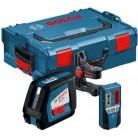 Линейный лазерный нивелир (построитель плоскостей) GLL 2-50 + BM1 + LR2 в L-Boxx 0601063107