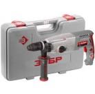 Перфоратор ЗУБР, SDS-plus, БЗП,  в компл., металл корпус редуктора, 800Вт, кейс