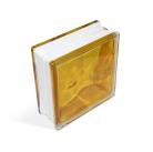 Стеклоблок In-colored saffron yellow 190х190х80мм, JH063  D G