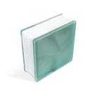Стеклоблок Misty Cloudy Turquoise 190х190х80мм, JH051  D G