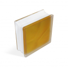 Стеклоблок Misty in-colored yellow 190х190х80мм, JH066  D G
