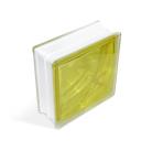 Стеклоблок In-colored lemon yellow 190х190х80мм, JH064  D G