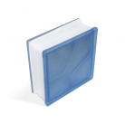 Стеклоблок Misty Cloudy Blue 190х190х80мм, JH041  D G