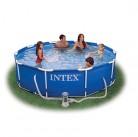 Бассейн каркасный Metal Frame 305*76 см+насос-фильтр 2006л Intex  28202