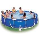 Каркасный сборно разборный бассейн Metal Frame Pool Intex 366x76