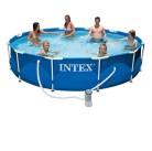 Бассейн каркасный Metal Frame 366*76 см +насос-фильтр 2006л Intex 28212