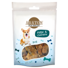 ARATON  Snack for dogs fish, twisted by chicken, 75g