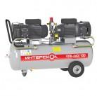 Компрессор воздушный безмасляный коаксиальный КВБ-660/100 Интерскол, мощность 2,05кВт, произ-ть по в