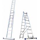 30216016 Ал. лестница 2х10, Н=4,8/5,9м  (5210) Алюмет