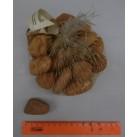 Галька нефритовая NS012 (оранжевая), 3-5 см,  1 кг.