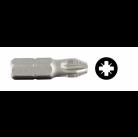 """Биты ЗУБР """"МАСТЕР"""" кованые, хромомолибденовая сталь, тип хвостовика C 1/4"""", PZ1, 25мм, 10шт"""