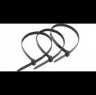 Хомуты ЗУБР нейлоновые, в п/э пакете, тип 7, черные, 2,5ммх200мм, 50шт